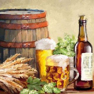 ペーパーナプキン(33)AMB:(5枚)Beer And Hops -AM512