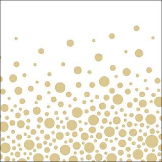 ペーパーナプキン(33)AMB:(5枚)Sparkling Dots Gold -AM524