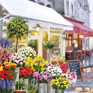 ペーパーナプキン(33)AMB:(5枚)Flower Shop-AM535