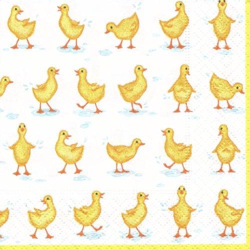 ペーパーナプキン(25)caspari:(5枚)Ducks-CA6(25)