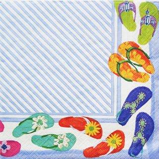 ペーパーナプキン(33)caspari:(5枚)Fancy Feet-CA87