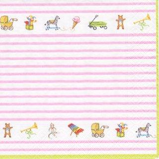 ペーパーナプキン(33)caspari:(5枚)Babe Pink-CA93