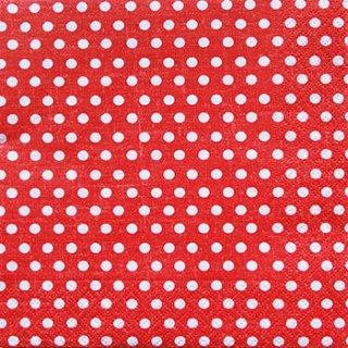 ペーパーナプキン(33)colorful:(5枚)Just dots red-CO3