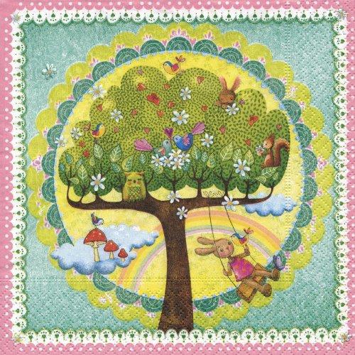 ペーパーナプキン(33)colorful:(5枚)a perfect dream-ln0727-CO8