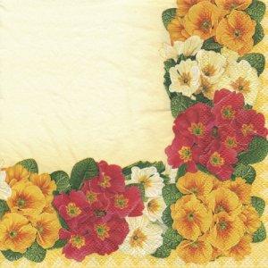 ペーパーナプキン(33)Daisy:(5枚)3色フラワー(イエロー)-DA22
