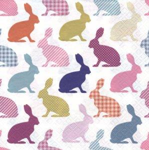 ペーパーナプキン(33)Daisy:(5枚)Bunny Pattern Retro-DA44