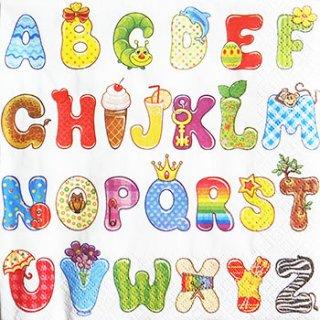 ペーパーナプキン(33)Daisy:(5枚)カラフルアルファベット-DA45