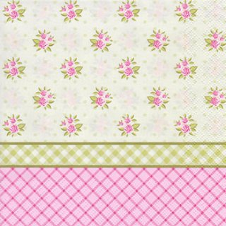 ペーパーナプキン(33)Daisy:(5枚)English Floral Wallpaper-DA66