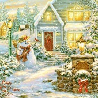 ペーパーナプキン(33)Daisy:(5枚)Christmas as Evening-DA109