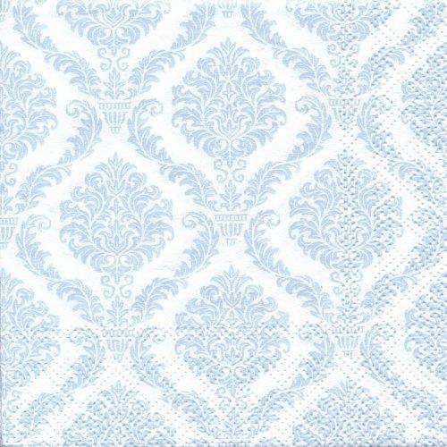 ペーパーナプキン(25)home:(5枚)ダマスク:Elegant ライトブルー-HO4(25)