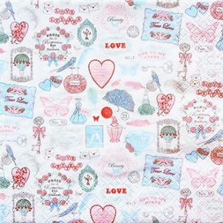 ペーパーナプキン(33)home:(5枚)Love Icons-HO7