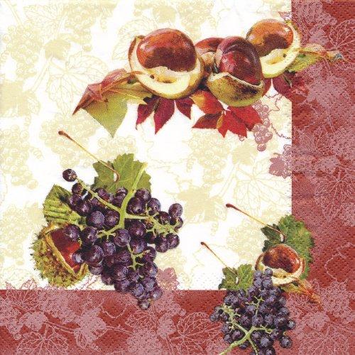 ペーパーナプキン(33)home:(5枚)Autumn Mix-211006-HO60