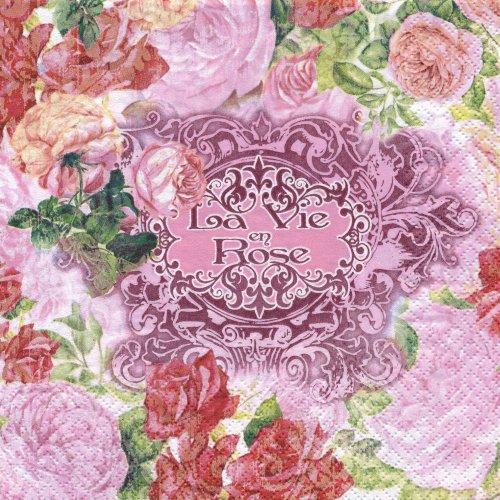 ペーパーナプキン(33)home:(5枚)La Vie en Rose-211138-HO86