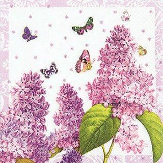 ペーパーナプキン(33)home:(5枚)Painted Lilac-HO130