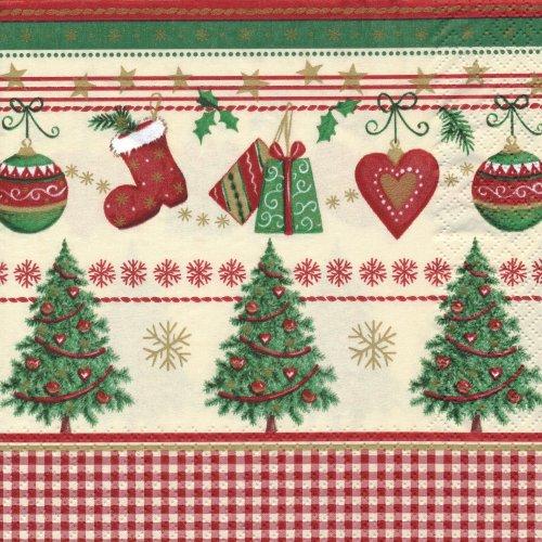 ペーパーナプキン(33)home:(5枚)トラディショナル クリスマス-HO134