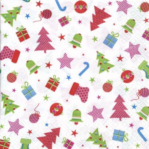 ペーパーナプキン(33)home:(5枚)クリスマスアイコン-HO138