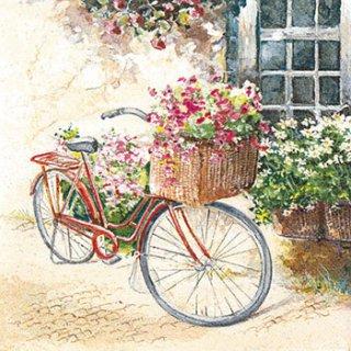 ペーパーナプキン(33)home:(5枚)Flower Bike-HO176