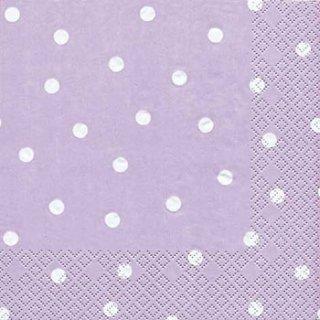 ペーパーナプキン(33)home:(5枚)Dots lilac-HO177