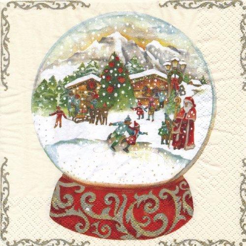 ペーパーナプキン(33)home:(5枚)Snow Globe-HO194