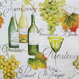 ペーパーナプキン(25)IHR:(5枚)ワイン ピノグリージョ-IH12(25)