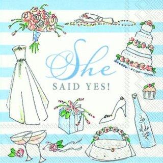 ペーパーナプキン(25)IHR:(5枚)SHE SAID YES-IH96(25)