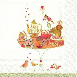 ペーパーナプキン(33)IHR:(5枚)BIRTHDAY TABLE-IH123