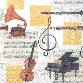 ペーパーナプキン(33)IHR:(5枚)ミュージック クラッシック-IH124
