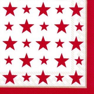 ペーパーナプキン(33)IHR:(5枚)TOP STARS red -IH281