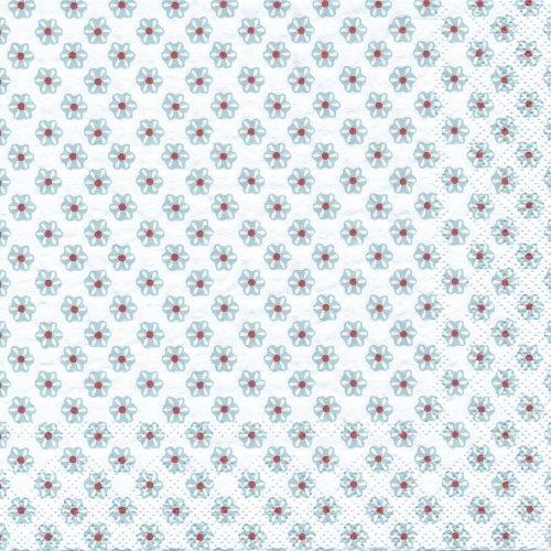 ペーパーナプキン(33)IHR:(5枚)CUTE PATTERN white light blue-IH291