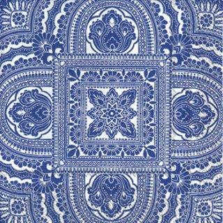 ペーパーナプキン(33)IHR:(5枚)CLASSIQUE white blue-IH335