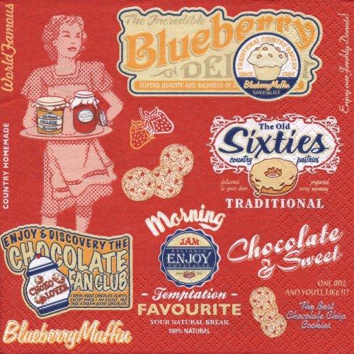 ペーパーナプキン(33)Maki:(5枚)American Vintage Food-MA110
