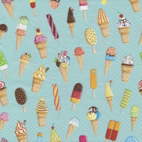 ペーパーナプキン(33)Maki:(5枚)カラフルアイスクリーム-MA111