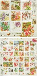 ペーパーナプキン(33)Maki:(5枚)Vintage Style Stamps-MA121
