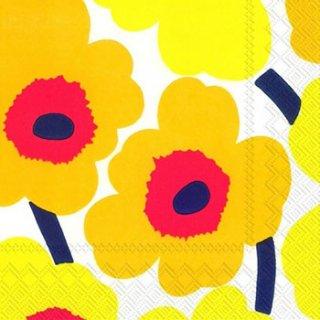 ペーパーナプキン(25)marimekkoマリメッコ:(5枚)【19】UNIKKO dark yellow(25)