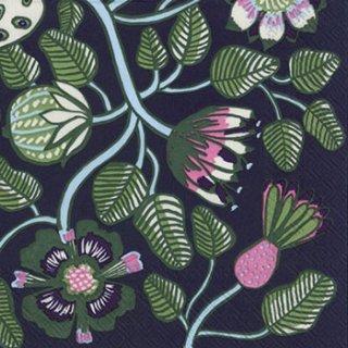 ペーパーナプキン(25)marimekkoマリメッコ:(5枚)【25】TIARA blue