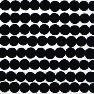 ペーパーナプキン(33)marimekkoマリメッコ:(5枚)【m-46】RASYMATTO black
