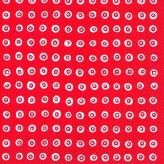ペーパーナプキン(33)marimekkoマリメッコ:(5枚)【54】KARAKOLA red
