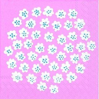 ペーパーナプキン(33)marimekkoマリメッコ:(5枚)【62】PUKETTI light rose