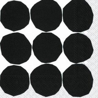 ペーパーナプキン(33)marimekkoマリメッコ:(5枚)【67】KIVET black white
