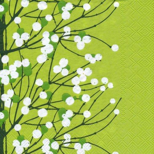 ペーパーナプキン(33)marimekkoマリメッコ:(5枚)【82】LUMIMARJA light green