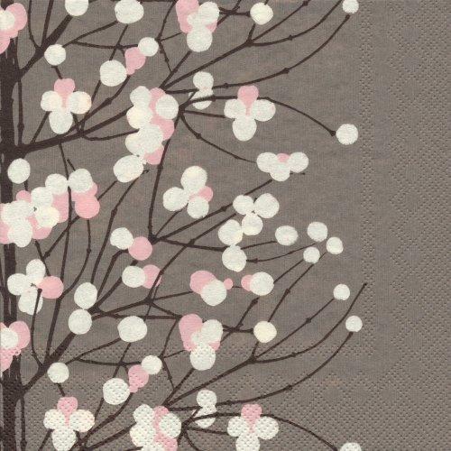 ペーパーナプキン(33)marimekkoマリメッコ:(5枚)【85】LUMIMARJA dark beige
