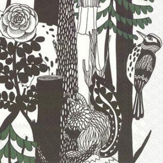 ペーパーナプキン(33)marimekkoマリメッコ:(5枚)【86】VELJEKSET green