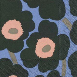 ペーパーナプキン(33)marimekkoマリメッコ:(5枚)【95】 UNIKKO green blue