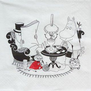 ペーパーナプキン(33)moominムーミン:(5枚)パパリーディーング-mo2