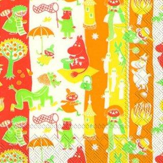 ペーパーナプキン(33)moominムーミン:(5枚)MOOMINVALLEY orange-mo3