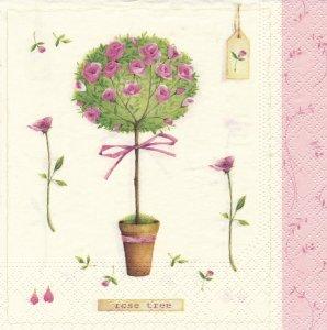 ペーパーナプキン(33)NOUVEAU:(5枚)Rose Tree-NO24