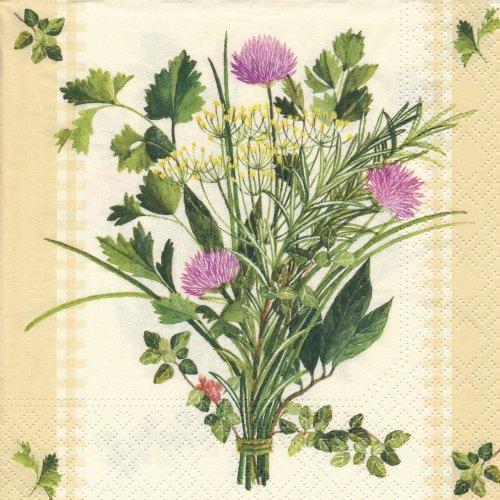 ペーパーナプキン(33)NOUVEAU:(5枚)Bunch of Herbs-NO46