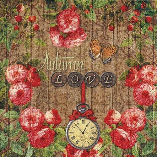 ペーパーナプキン(33)NOUVEAU:(5枚)Autumn Love-NO68