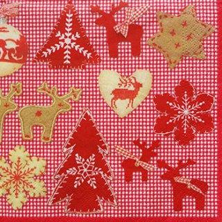 ペーパーナプキン(33)NOUVEAU:(5枚)Reindeers-NO69