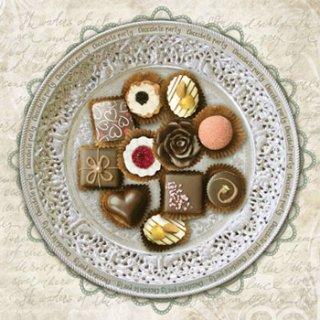ペーパーナプキン(33)NOUVEAU:(5枚)Chocolate Party-NO80